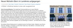 Restaurant in Villa Linde in Bodman bekommt einen Michelin Stern