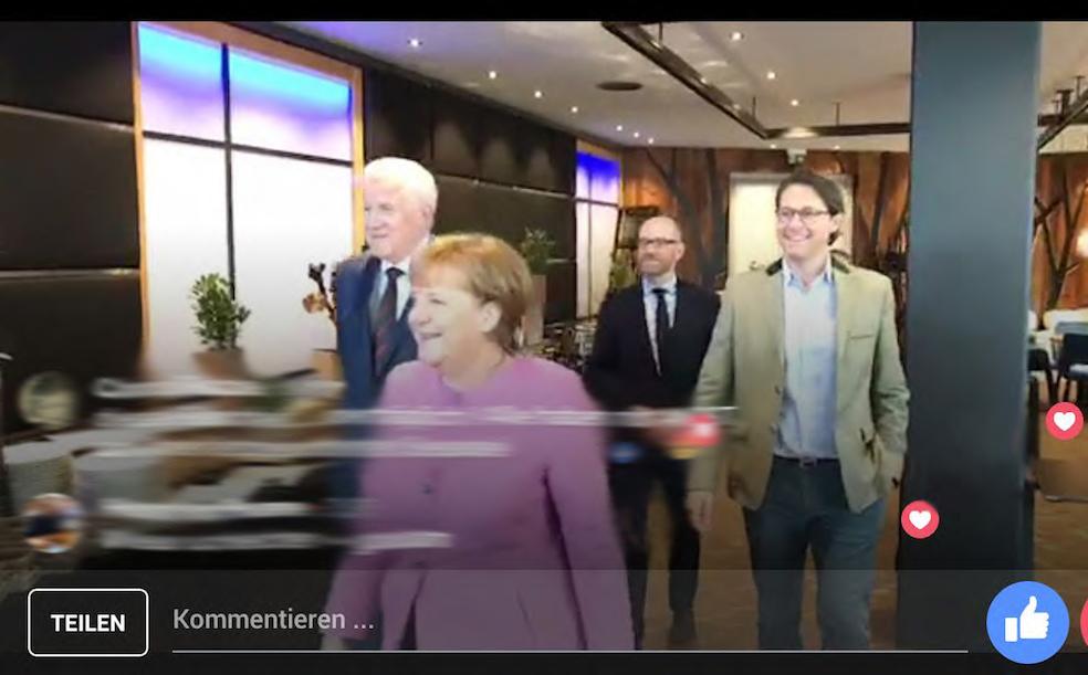 Besuch Merkel in der CSU Kantine