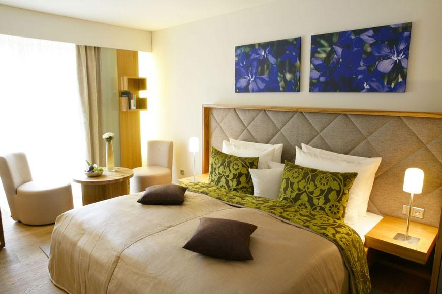 Hotel Oberammergau Zimmer Bett