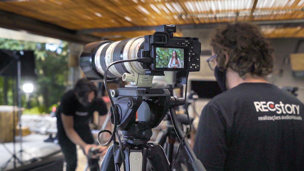Equipe de filmagem profissional da Recstory