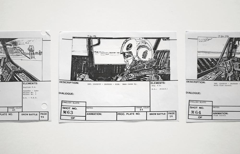 Storyboard para produção de vídeo.