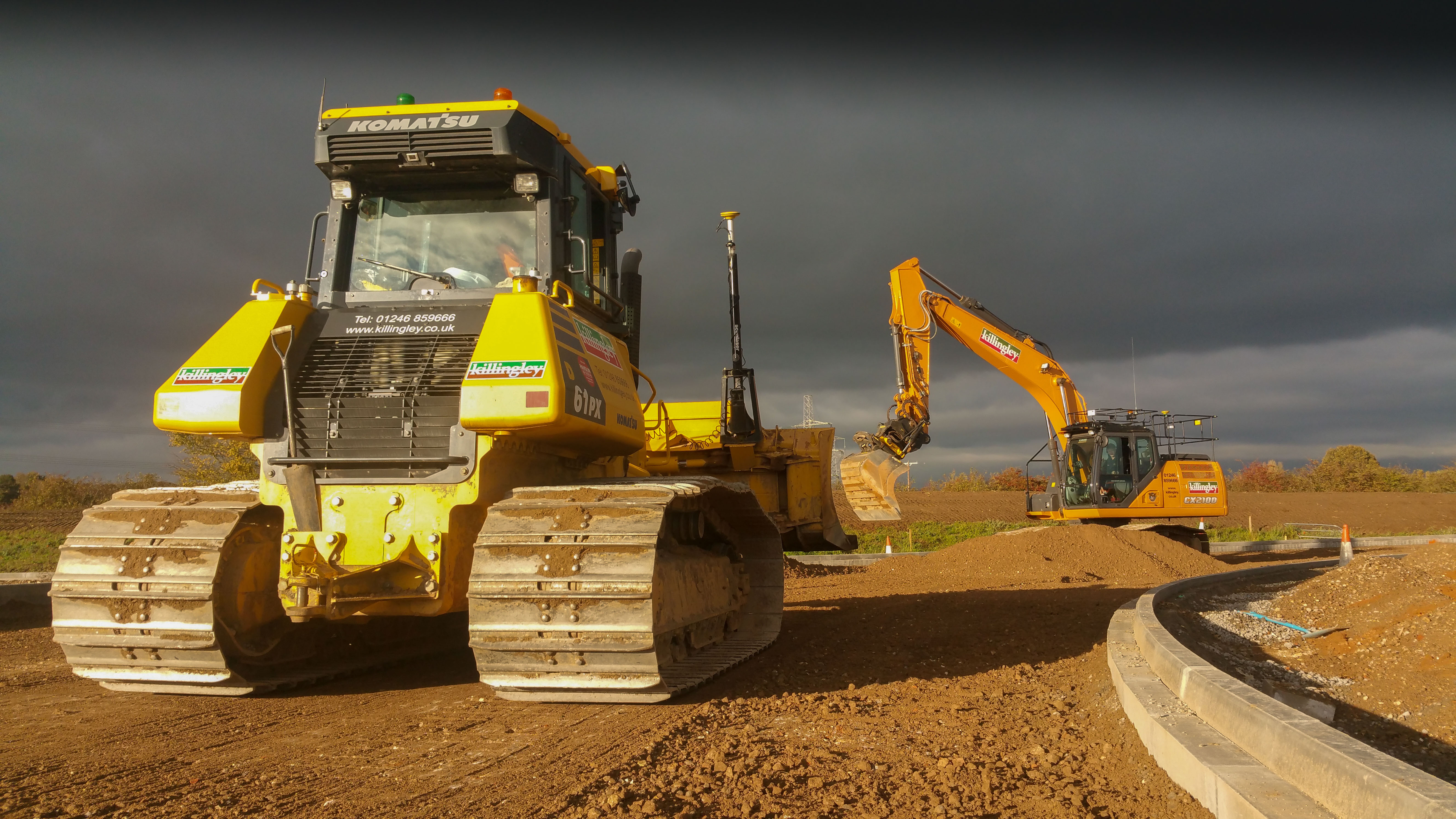 Excavator operated by Killingley