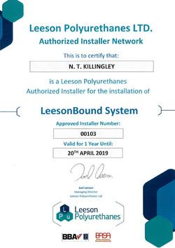 LeesonBound certificate