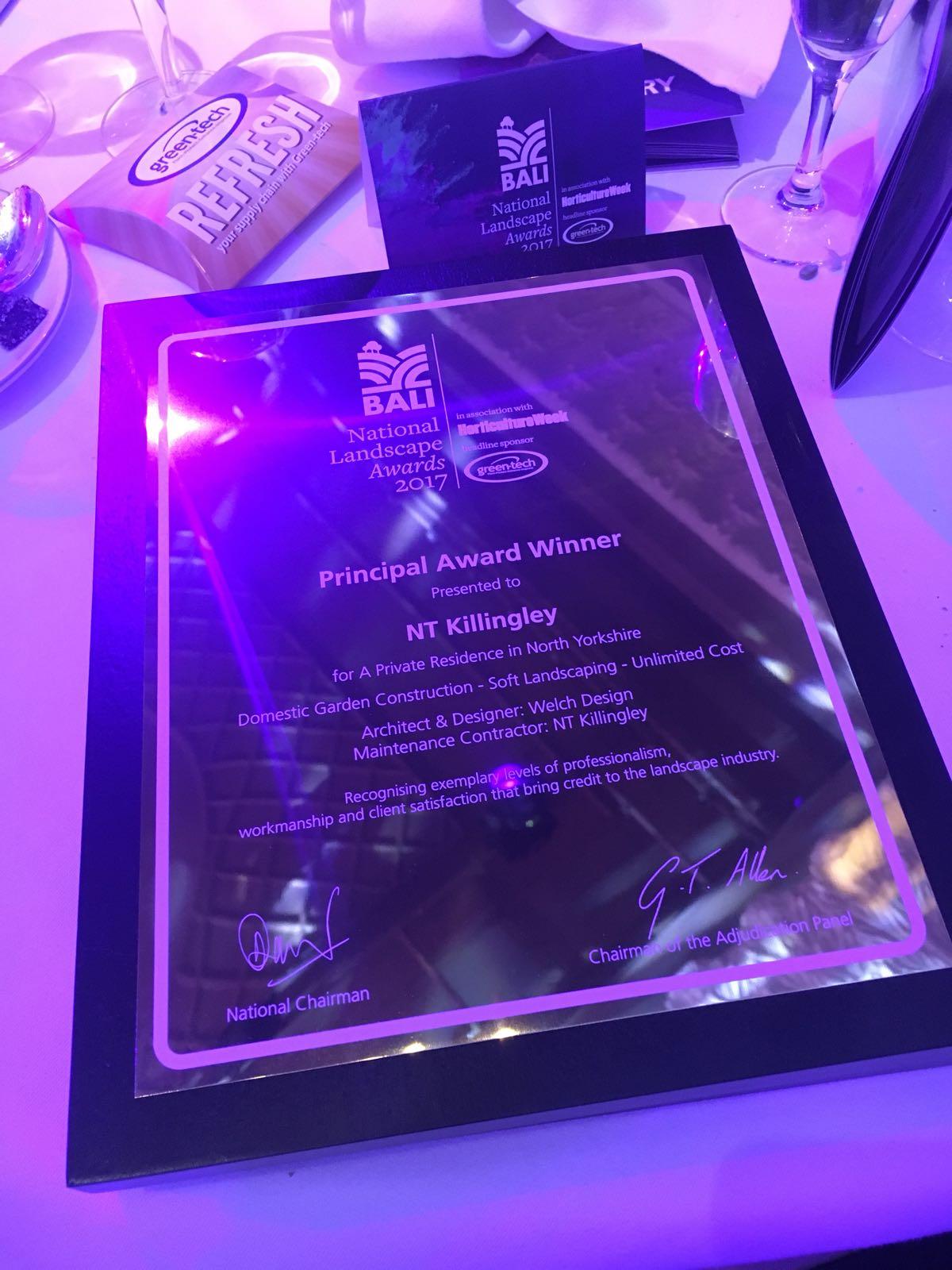BALI Award 2017