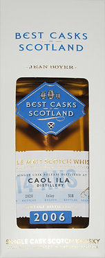 Whisky Caol Ila 2006/2020 Single Cask-fumé et tourbé.