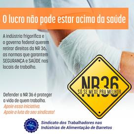 NR36 - SÓ SE MEXE PRA MELHOR