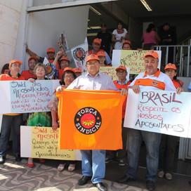 FORÇA SINDICAL E SINDICATO REALIZAM PROTESTO