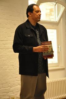 Hakim in Berlin, promoting book, Pan-Africanism and Communism, 2014