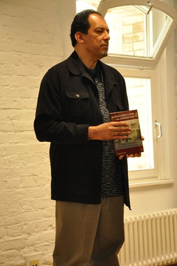 Hakim in Berlin, promoting book, Pan-Africanism and Communism, 2014