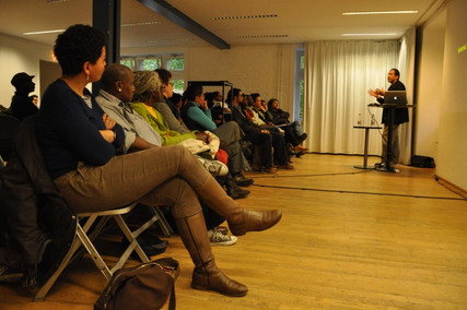 Crowd in Berlin for talk on Pan-Africanism and Communism, 2014