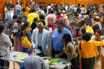 Crowd at Brixton launch of Pan-Africanism: A History