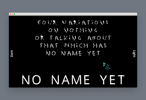 No Name Yet variable font
