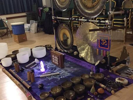 Relaxing in a Gong Bath