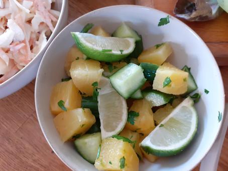 Pineapple, Cucumber & Lime Salad