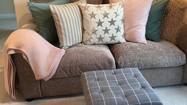 How to Upcycle Footstools with Scarves!