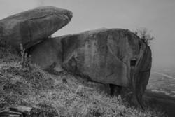 交野山山頂の観音岩