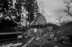 盛岡 櫻山神社の烏帽子岩