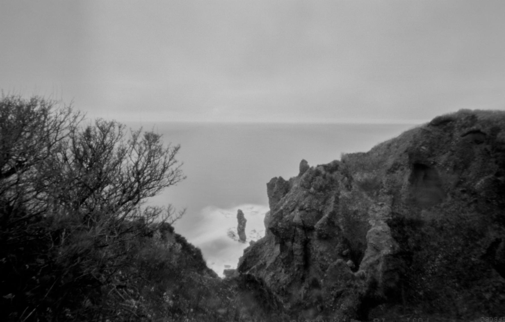 北海道積丹半島、水無しの立岩