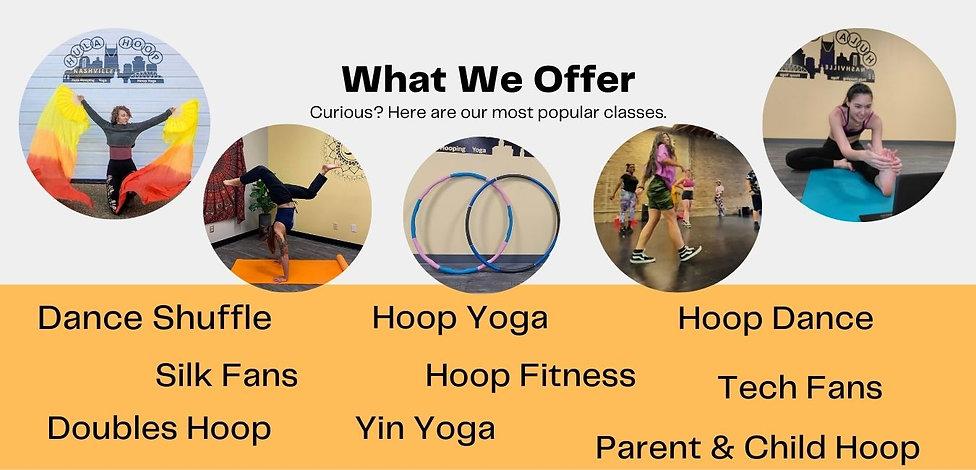 Hoop fitness, Hoop dance, Hoop yoga, yin yoga, Zumba, shuffle dance classes. Online or in studio