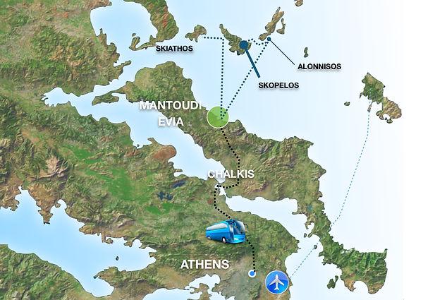 Αθήνα Χαλίδα Εύβοια Μαντούδι Σκόπελος