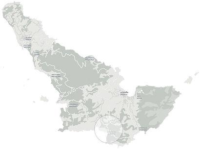 Κορίνα τοποθεσία Χάρτης . Korina location map
