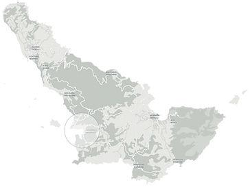 Ρεγγίνα Πάνορμος τοποθεσία Χάρτης . Regina Panormos location map
