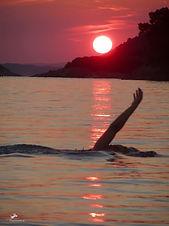 Skopelos nature activities swimming sunset