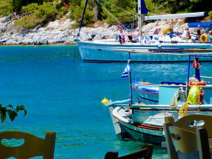 Skopelos restaurants views