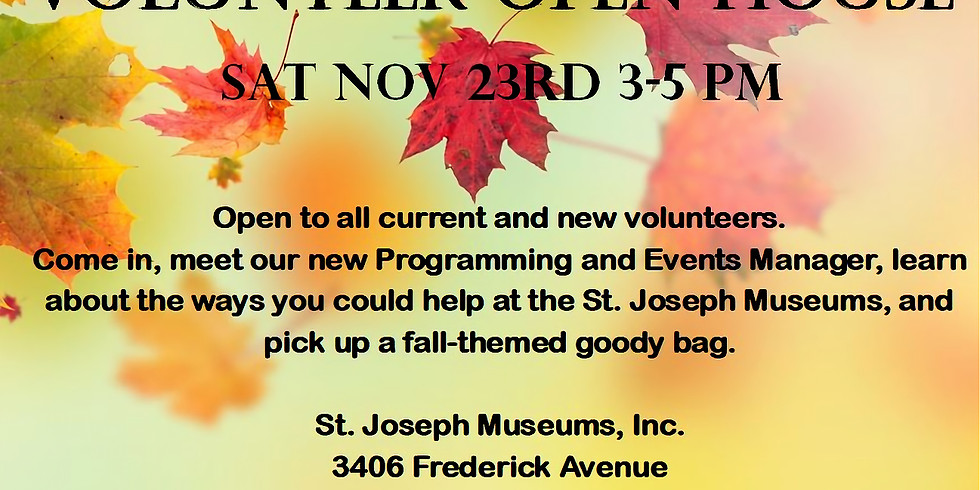 Come Harvest an Opportunity! (Volunteer Open House)