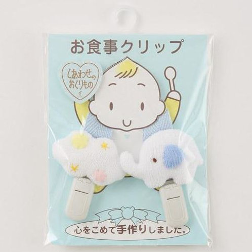 <<日本製>> 手巾/口水肩/玩具/奶咀夾 - 白雲與大象