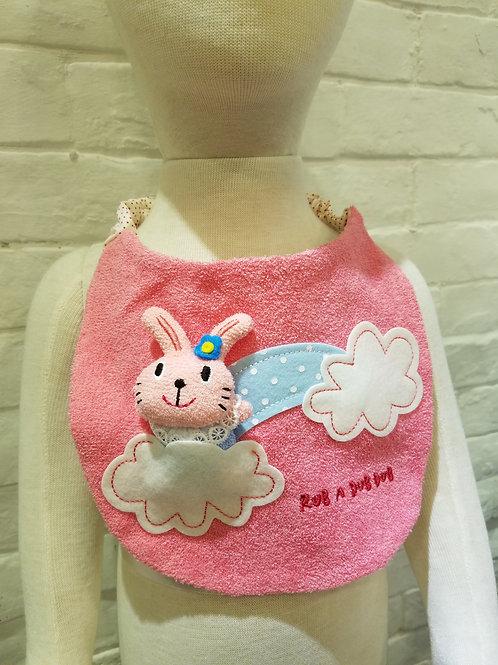 日本製ラブアダブダブ (RUB A DUB DUB) 3D小兔口水肩