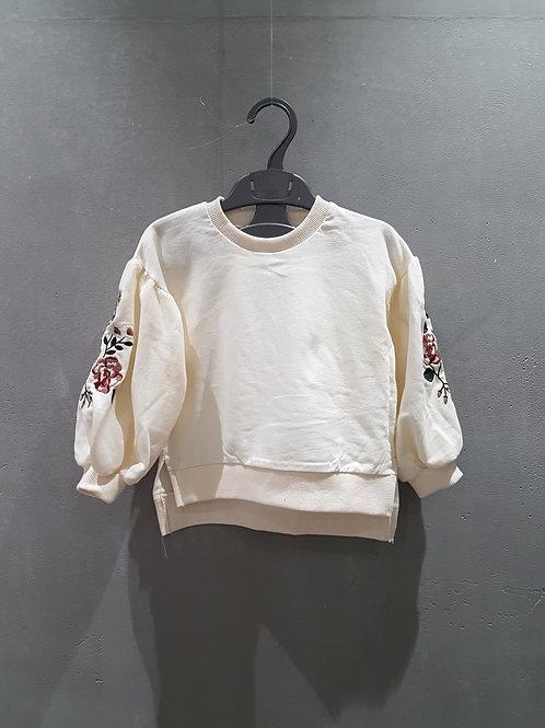 <韓國直送> 長袖 衛衣衫仔 - 玫瑰刺繡