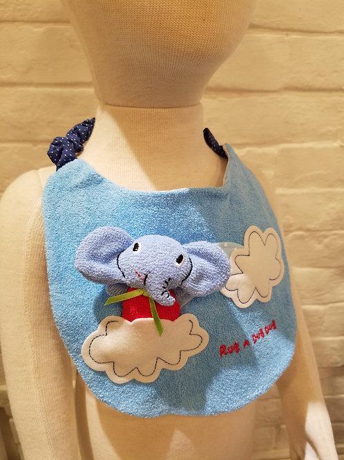 日本製ラブアダブダブ (RUB A DUB DUB) 3D大象口水肩