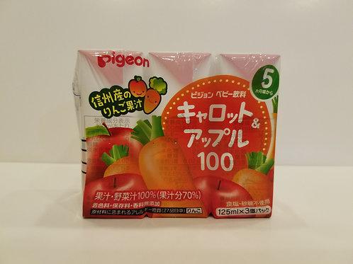 Pigeon 100%胡蘿蔔與蘋果汁