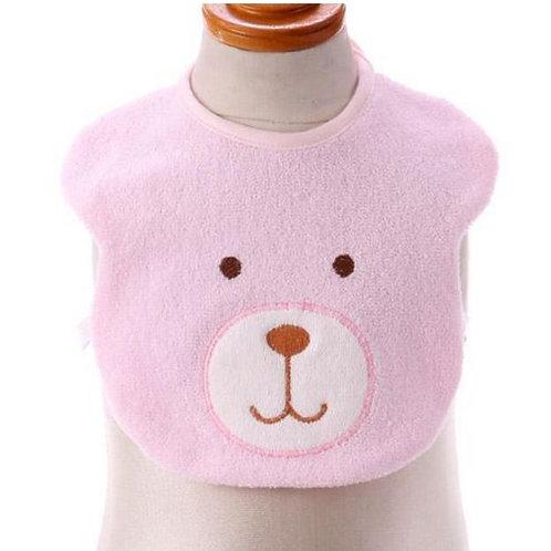 日本製粉色系小熊口水肩