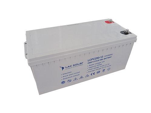 LAC Solar 12v 250ah Gel Battery