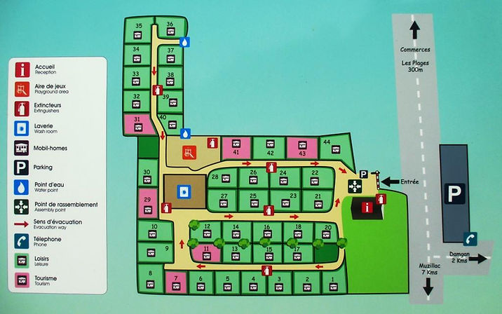 Plan du camping | Camping Ty Breiz | France