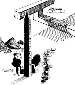 Egyptian obelisk shadow clock