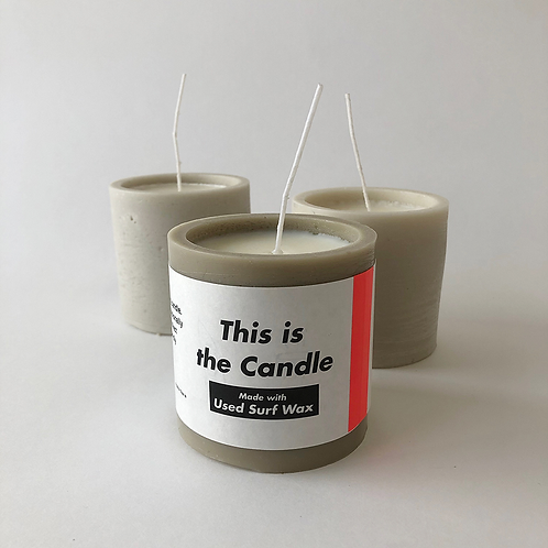 This is the Candle[Made with Used Surf Wax]