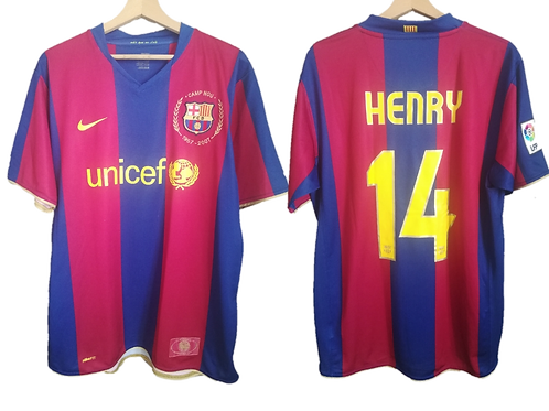 Maillot Nike - FC Barcelone 1957 - 2007 50 Ans Camp Nou - Thierry Henry #14 (L)