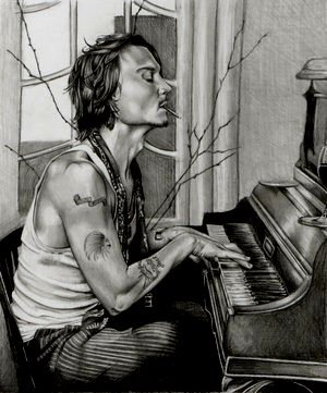 Johnny on the piano
