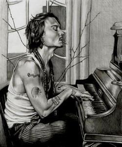 Johnny on the piano