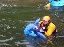 Kayaks not compulsory!