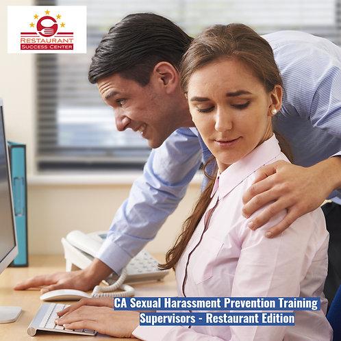 CA Sexual Harassment Prevention Training Supervisor- Restaurant -2