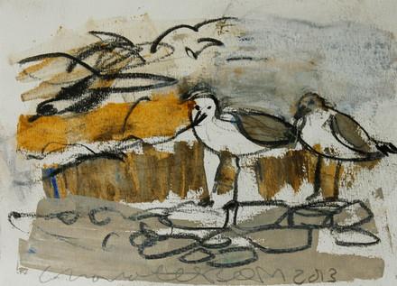 Birds oil color
