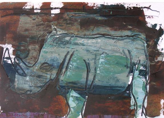 Rhino paintings 2005-07
