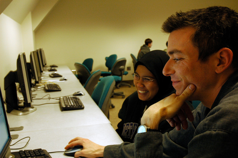 Teached and student in a class at the University of Washington