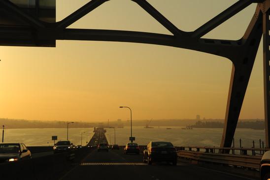Evening glow at the bridge