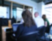 BI stakeholders test the new interface, Seattle, Washington, USA