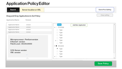 Security policy editor for cloud